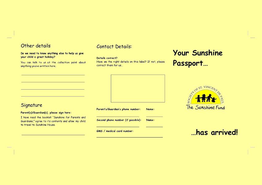 Sample Yellow Card